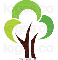 Royalty Free Vector of a Logo of a Green Tree