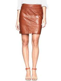 wantwantwantwantwantwantwantwantwantwantwantwantwantwantwant    Leather patch pocket skirt | Gap