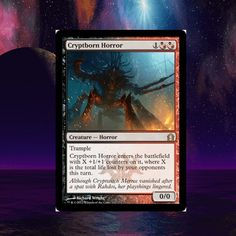 Stop by ManaTapped.com for your chance to win Cryptborn Horror, a Magic the Gathering Rare!   MTG, Return to Ravnica