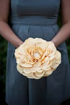 bouquet made of fabric