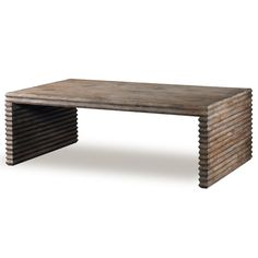 A simple three-sided coffee table with hand-carved legs creating a striking… Stone Coffee Table, Coffee Table Grey, Outdoor Coffee Tables, Luxury Furniture Brands, Mid Century Modern Design, Cocktail Tables, Wood Colors, Patio, Backyard