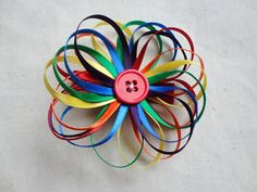 rainbow hair clip @Dawn Cameron-Hollyer Cameron-Hollyer Cameron-Hollyer Lee, teagan would love this one :)