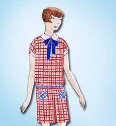 1920s Original Stellar Unused Butterick Girl's Flapper Dress Pattern | eBay