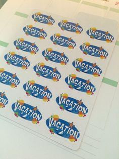Vacation Stickers for Erin Condren Kikki-K by PlanningPerfect  #planner #stickers #erincondren #lifeplanner #kikkik #plumpaperplanner #filofax #planning #scrapbook #vacation #fun #beach #summer #plans