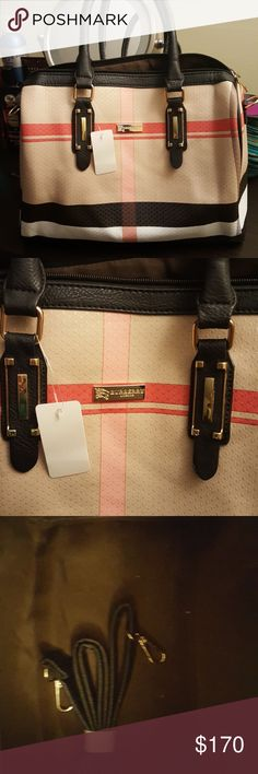 PRICE DROP 🍁Burberry Plaid beautiful bag🍁 Designer inspired xtra shoulder strap included new Bags Shoulder Bags