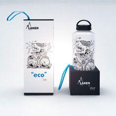 Illustration and packaging design for Laken bottles by Mister Onüff , via Behance