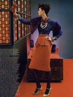 Vogue UK Editorial September 2011 - Stella Tennant by Javier Vallhonrat