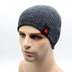 9fcf9234cef6a Men s Winter Hat Caps Skullies Warm Bonnet Caps Wool Warm Baggy Balaclava  Caps - Hats · Sombreros de inviernoSombreros de hombreGorrita ...