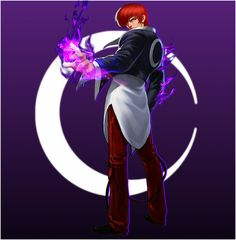 Iori Yagami - Moon by emmakof on DeviantArt Phone Wallpaper For Men, Iphone Wallpaper Images, Hd Wallpapers For Mobile, Cartoon Wallpaper, Street Fighter Game, Street Fighter Characters, Resident Evil, Miya Mobile Legends, Snk King Of Fighters