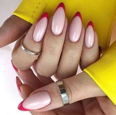 beautiful french nail designs ideas that trending now 12 ~ thereds.me - beautiful french nail designs ideas that trending now 12 ~ thereds. Nail Tip Designs, Cute Summer Nail Designs, Heart Nail Designs, French Nail Designs, Art Designs, Design Art, Almond Nails Designs, Cute Nails, Pretty Nails