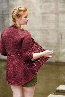Juicy Gloss is a flattering openfront cardigan, perfect for summer. It is knit…