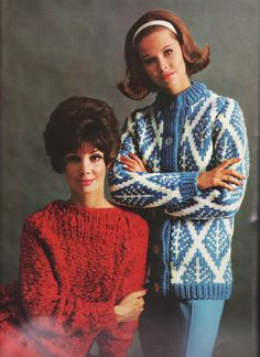 1960s Knitting Patterns BIG NEEDLE FASHIONS by ThePerfectPattern