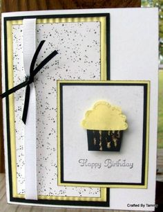 Cupcake Yellow and Black by tammylee - Cards and Paper Crafts at Splitcoaststampers