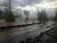 Pictures: Flooding Rappahannock roars through Fredericksburg Fall Hill Avenue April 30, 2014