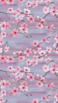 Ideas For Spring Wallpaper Iphone Pattern Cherry Blossoms Cherry Blossom Wallpaper Iphone, Floral Wallpaper Iphone, Iphone Background Wallpaper, Aesthetic Iphone Wallpaper, Aesthetic Wallpapers, Watercolor Wallpaper Phone, Cherry Blossom Background, Cherry Blossoms, Frühling Wallpaper