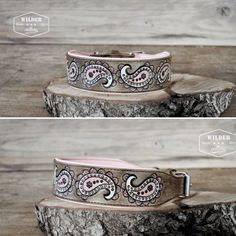 "Paisley dog collar from""wilder-collar"""