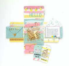 Con un poco de Washi...: Buzón Craft: Huele a veranito... (segunda parte) Pen Pal Letters, Pocket Letters, Scrapbook Albums, Scrapbooking Layouts, Snail Mail Pen Pals, Envelope Art, Candy Cards, Washi, Happy Mail