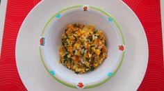 Špenátovo - mrkvové rizoto s bielym jogurtom