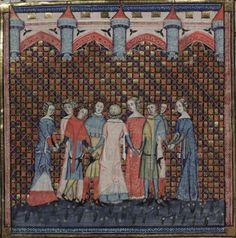 14th century (1338-1344) Flemish - Tournai, Oxford, Bodleian Library,MS. Bodl. 264: Romance of Alexander, fol. 181v, source (at LUNA) | Illumanu
