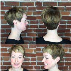 This guest came in looking to change up her style! Stylist Alexis gave her a short textured cut! Reserve today: 816-605-1949 or visit http://www.theglamroomkc.com