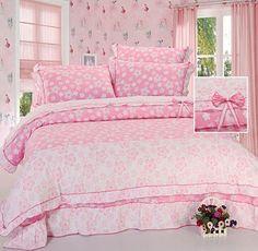 Lovely Pink Sweartheart 100% Cotton 4-Piece Duvet Cover Sets - Shelayer.com Cheap Bedding Sets, Bedding Sets Online, Buy Cheap, Duvet Cover Sets, Comforters, Pink, Blanket, Cotton, Home