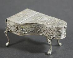 Sterling Silver Piano Matchsafe Keyboard Striker
