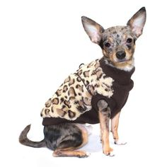Hip Doggie Brown Cheetah Mink Vest - HD-7BCV-