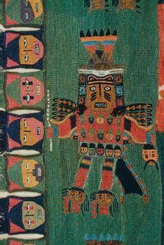 manto paracas Ancient Peruvian, Peruvian Art, Textile Texture, Textile Art, Textile Design, Peruvian Textiles, Mesoamerican, Brazilian Embroidery, Inca