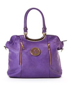 Another great find on #zulily! Purple Embellished Tote by MKF Collection #zulilyfinds