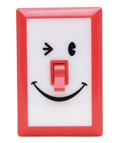 Another great find on #zulily! Red SMiLE Switch Night-Light #zulilyfinds