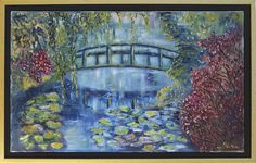 Ballade à Giverny  huile sur Lin 33 X 55cm  www.acooparts.com