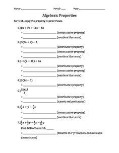 48 Best Algebraic Properties Images Algebraic Properties