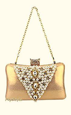 MG Collection Rhinestone Handbag