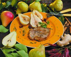 Hozzávalók: 5 dkg friss gyömbérgyökér, 0,5 liter fehérborecet vagy tárkonyecet, 15 dkg kristálycukor, 3 erős hegyes piros húsú paprika, 4 szegfűszeg, 6 szem fekete bors, 2 kis darabka fahéj, 1,5 kg maximum közepesen nagy körte  1. A ... Pear, Fruit, Food, Apples, Essen, Meals, Yemek, Eten, Bulb