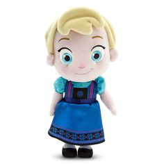 "12"" Disney Store Frozen Toddler Princess Elsa Plush Figure Soft Doll Stuffed Toy #Disney"