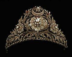 Antique Ruby and Diamond tiara