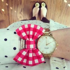 Crew polka dotted blouse, Kate spade watch, and Tory Burch flats-Love that now bracelet also! Preppy Girl, Preppy Style, My Style, East Coast Prep, Southern Curls And Pearls, Preppy Southern, Southern Charm, Southern Prep, Kate Spade Watch