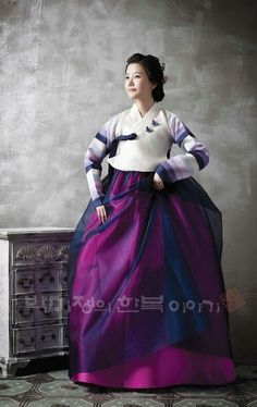 Purple and Cream Hanbok