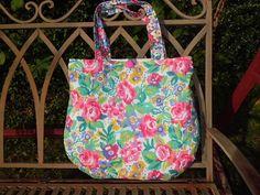 Tasche, Handtasche, Schultertasche, Shopper, Leinen, Tote bag, Rosen,