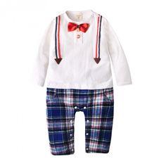 Augelute Casual Baby Boy Gentleman Romper