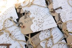 Cute placecards  Photography by bluephoto.biz    Read more - http://www.stylemepretty.com/2013/01/25/san-luis-obispo-wedding-from-bluephoto/