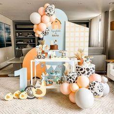 2nd Birthday Party For Girl, Girl Birthday Decorations, Birthday Themes For Boys, Safari Birthday Party, Farm Birthday, Balloon Decorations, Baby Shower Deco, Mini, Instagram