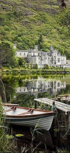 Kylemore Abbey in Connemara, County Galway,Ireland