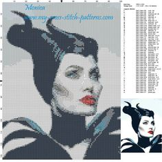 Maleficent - Exclusive cross stitch pattern February 2016 DOWNLOAD LINK: http://forums.my-cross-stitch-patterns.com/exclusive-cross-stitch-pattern-february-2016-maleficent-t484.html