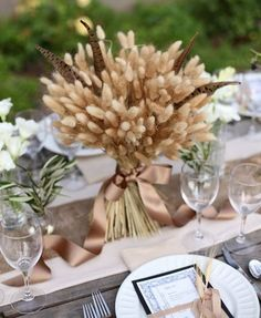 60 Rustic Wheat Wedding Ideas | HappyWedd.com