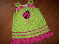 Pink Ladybug Dress