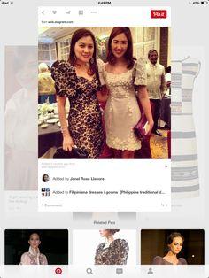 Mother short dress florals Filipiniana Dress, Independence Day, Florals, Graduation, Short Dresses, Celebrities, Fashion, Floral, Short Gowns