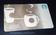 limited edition @starbucks #sustainable birch wood #giftcard