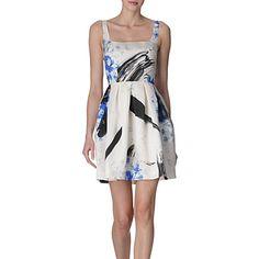 CHRISTOPHER KANE Printed silk dress