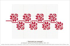 Semne Cusute: MOTIVE: floricele pe creanga (P10, M8) Beading Patterns, Blackwork, Cross Stitch Embroidery, Pixel Art, Crochet, Couture, Stitch Patterns, Embroidery Designs, Diy And Crafts